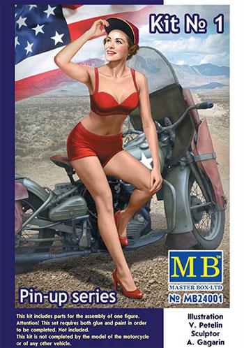 マリリン (ビキニ & ベースボールキャップ)プラモデル(マスターボックスピンナップ (Pin-up)No.MB24001)商品画像