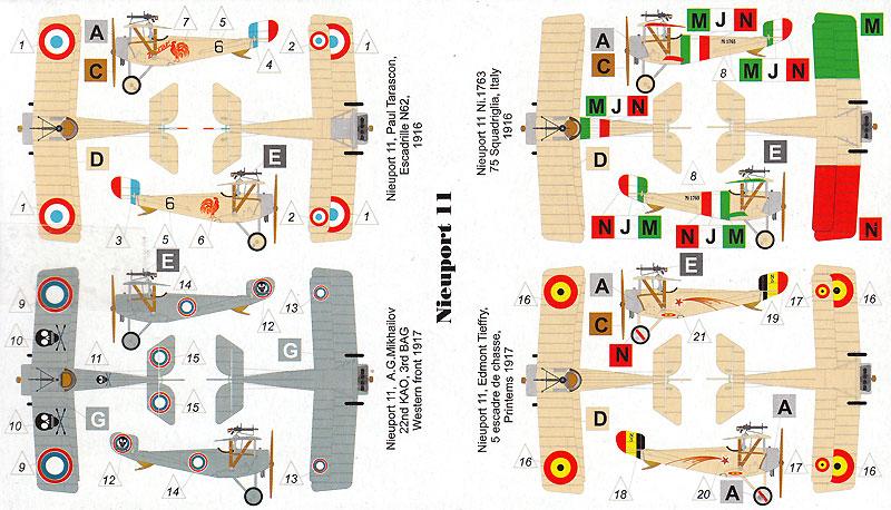 ニューポール 11 べべ 複葉戦闘機プラモデル(バロムモデル1/144 エアクラフトNo.14413)商品画像_1