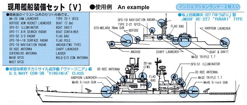 現用艦船装備セット 5 (追加パーツ入 限定版)プラモデル(ピットロードスカイウェーブ E シリーズNo.E-001SP)商品画像_2