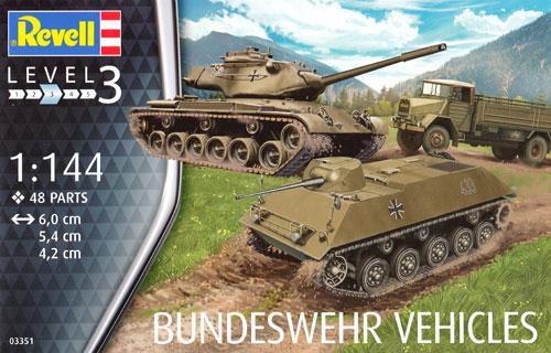 ドイツ陸軍車輛セット (M47 & HS30 & LKW)プラモデル(レベル1/144 ミリタリーNo.03351)商品画像