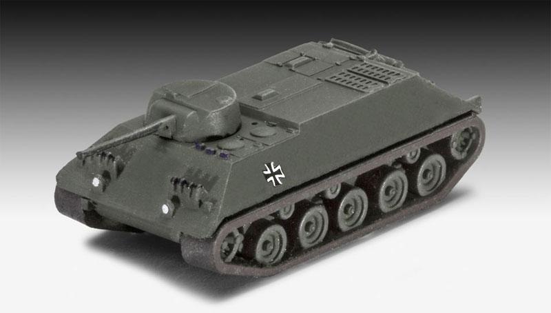 ドイツ陸軍車輛セット (M47 & HS30 & LKW)プラモデル(レベル1/144 ミリタリーNo.03351)商品画像_3