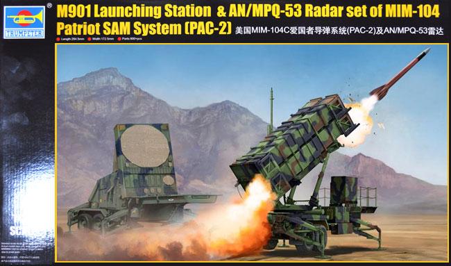 MIM-104C ペトリオット PAC-2 (M901 ランチャー・ステーション&AN/MPQ-53 レーダー)プラモデル(トランペッター1/35 AFVシリーズNo.01022)商品画像