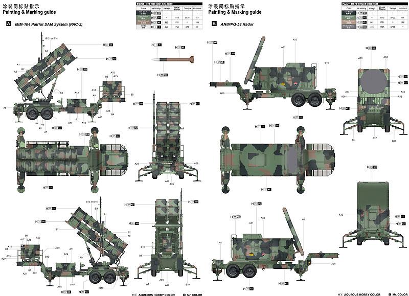 MIM-104C ペトリオット PAC-2 (M901 ランチャー・ステーション&AN/MPQ-53 レーダー)プラモデル(トランペッター1/35 AFVシリーズNo.01022)商品画像_2