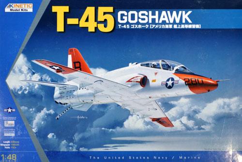 T-45 ゴスホーク アメリカ海軍 艦上高等練習機プラモデル(キネティック1/48 エアクラフト プラモデルNo.K48038)商品画像