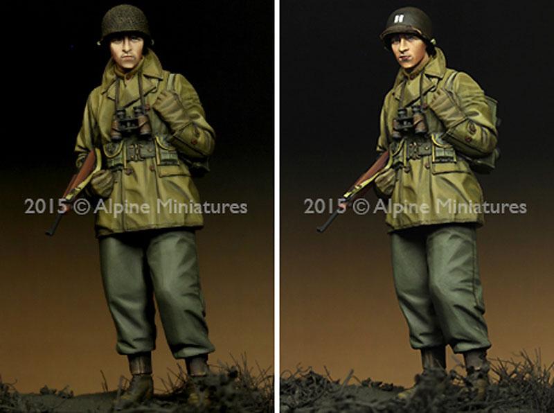 WW2 アメリカ軍 歩兵 (マッキーノコート)レジン(アルパイン1/35 フィギュアNo.AM35203)商品画像_3