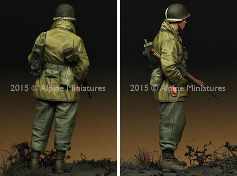 WW2 アメリカ軍 歩兵 (マッキーノコート)レジン(アルパイン1/35 フィギュアNo.AM35203)商品画像_4
