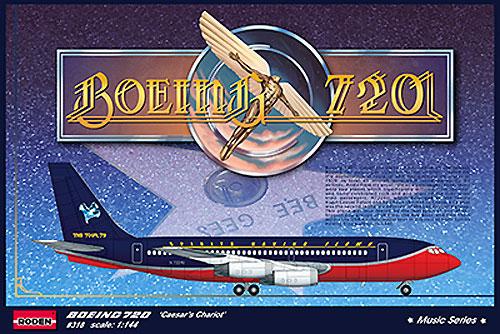 ボーイング 720 シーザーズ チャリオットプラモデル(ローデン1/144 エアクラフトNo.318)商品画像