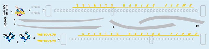 ボーイング 720 シーザーズ チャリオットプラモデル(ローデン1/144 エアクラフトNo.318)商品画像_1
