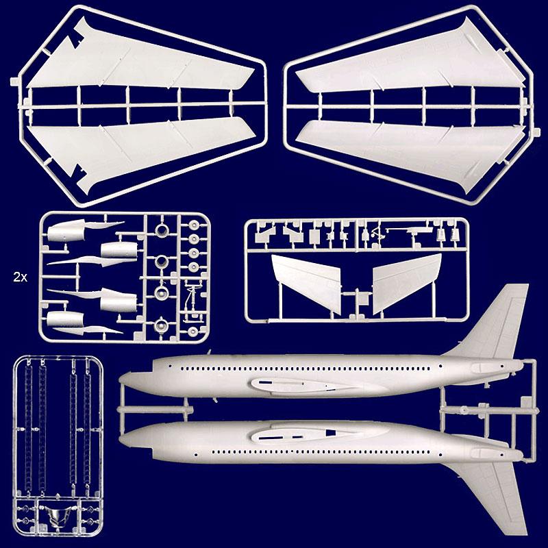 ボーイング 720 シーザーズ チャリオットプラモデル(ローデン1/144 エアクラフトNo.318)商品画像_2