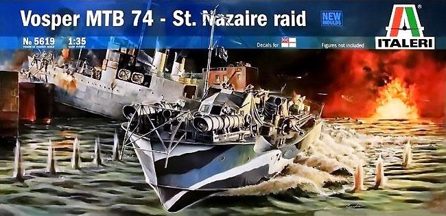 イギリス海軍 魚雷艇 ボスパー MTB74 サン・ナゼール強襲 (エッチングパーツ付)プラモデル(イタレリ1/35 艦船モデルシリーズNo.5619)商品画像
