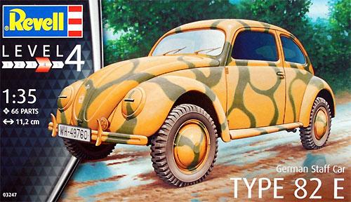 ドイツ タイプ 82E スタッフカープラモデル(レベル1/35 ミリタリーNo.03247)商品画像