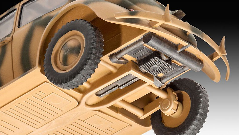 ドイツ タイプ 82E スタッフカープラモデル(レベル1/35 ミリタリーNo.03247)商品画像_3