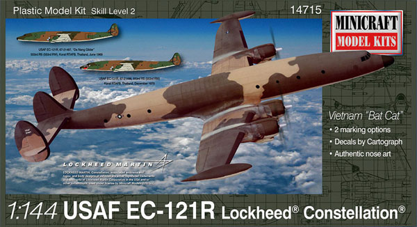アメリカ空軍 EC-121R ロッキード・コンステレーションプラモデル(ミニクラフト1/144 軍用機プラスチックモデルキットNo.14715)商品画像