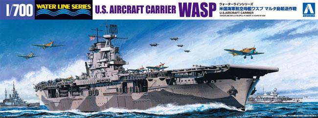 米国海軍 航空母艦 ワスプ マルタ島輸送作戦プラモデル(アオシマ1/700 ウォーターラインシリーズNo.010327)商品画像