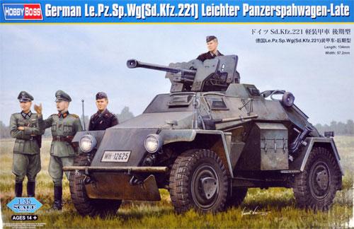 ドイツ Sd.Kfz.221 軽装甲車 後期型プラモデル(ホビーボス1/35 ファイティングビークル シリーズNo.83814)商品画像