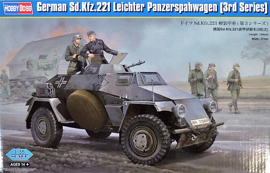 ドイツ Sd.Kfz.221 軽装甲車 (第3シリーズ)プラモデル(ホビーボス1/35 ファイティングビークル シリーズNo.83812)商品画像