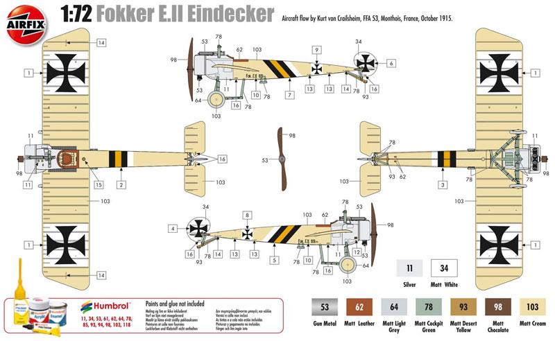 フォッカー E.2 アインデッカープラモデル(エアフィックス1/72 ミリタリーエアクラフトNo.A01086)商品画像_2