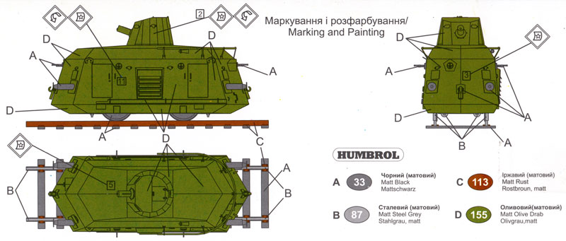 ロシア DTR 重機関銃搭載型プラモデル(ユニモデル1/72 AFVキットNo.662)商品画像_1