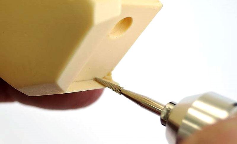 樹脂用カッター ミニテーパー (シルバーコーティングカーバイトバー)カッター(ファンテックロータリーツール用ビットNo.CS-M)商品画像_2