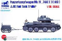 ブロンコモデル1/35 AFVモデルドイツ Mk.4 744(E)(A13) 戦車 & UE燃料タンクトレーラー