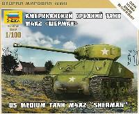 ズベズダART OF TACTICM4A2 シャーマン アメリカ 中戦車