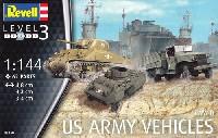 レベル1/144 ミリタリーWW2 アメリカ陸軍車輛セット (M4 & M8 & CCKW)