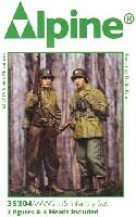 WW2 アメリカ軍 歩兵 防寒着セット (2体セット)