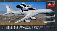 ミニクラフト1/144 軍用機プラスチックモデルキットアメリカ空軍 E-3/E-8 AWACS/ジョイントスターズ