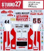 スタジオ27ラリーカー オリジナルデカールランチア ストラトス ピレリ #5 モンテカルロ / #4 サンレモ 1978 デカール