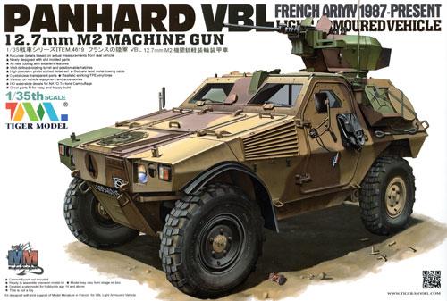 フランス パナール VBL 軽装甲機動車 12.7mm M2機関銃搭載型プラモデル(タイガーモデル1/35 AFVNo.TM-4619)商品画像