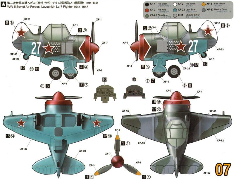 ラボーチキン La-7 (WW2 ソビエト軍)プラモデル(タイガーモデルキュートNo.TM-107)商品画像_2