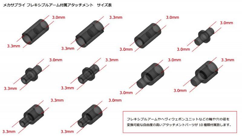 フレキシブルアーム Aプラモデル(コトブキヤM.S.G モデリングサポートグッズ メカサプライNo.MJ001)商品画像_2