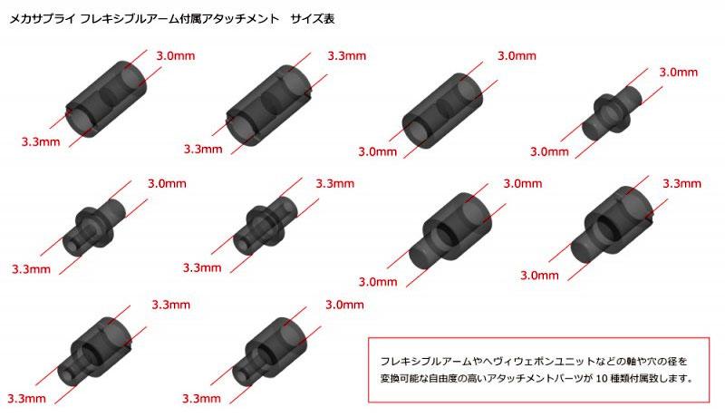フレキシブルアーム Bプラモデル(コトブキヤM.S.G モデリングサポートグッズ メカサプライNo.MJ002)商品画像_2