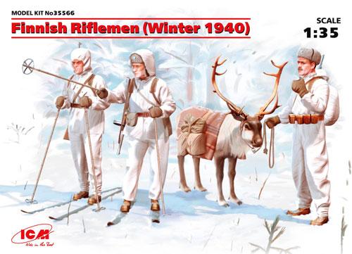 フィンランド 狙撃兵 (1940年 冬)プラモデル(ICM1/35 ミリタリービークル・フィギュアNo.35566)商品画像