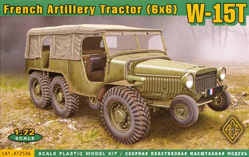 フランス ラフリー W-15T 六輪駆動 砲兵牽引車プラモデル(エース1/72 ミリタリーNo.72536)商品画像