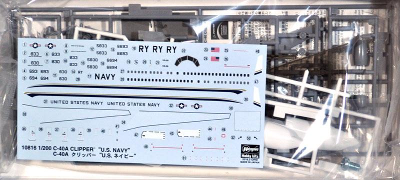 C-40A クリッパー U.S. ネイビープラモデル(ハセガワ1/200 飛行機 限定生産No.10816)商品画像_1