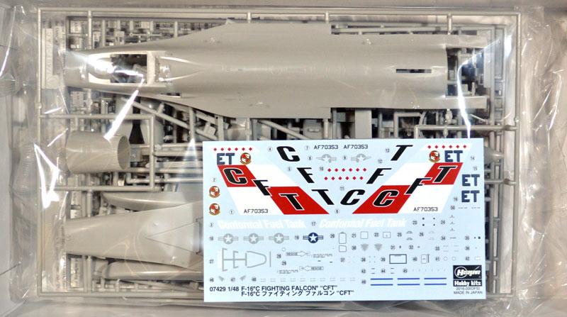 F-16C ファイティング ファルコン CFTプラモデル(ハセガワ1/48 飛行機 限定生産No.07429)商品画像_1