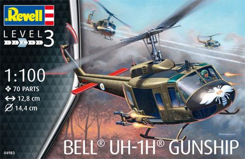 ベル UH-1H ガンシッププラモデル(レベル飛行機モデルNo.04983)商品画像