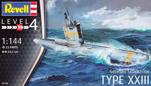 ドイツ潜水艦 Type23プラモデル(レベル1/144 艦船モデルNo.05140)商品画像