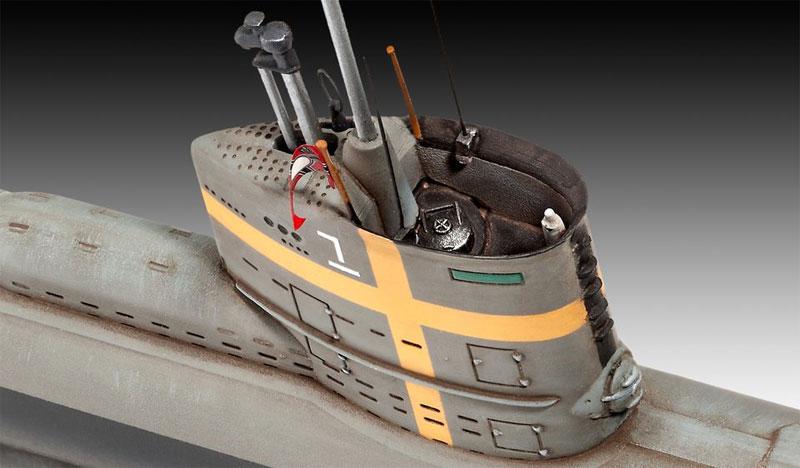 ドイツ潜水艦 Type23プラモデル(レベル1/144 艦船モデルNo.05140)商品画像_1