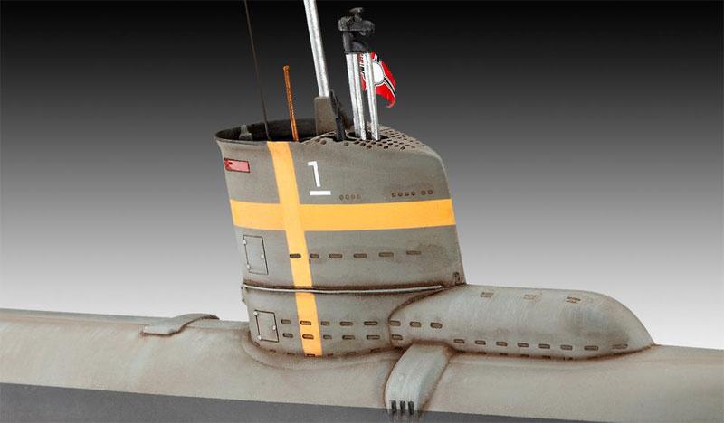 ドイツ潜水艦 Type23プラモデル(レベル1/144 艦船モデルNo.05140)商品画像_2