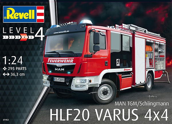 シュリングマン HLF20 VARUS 4×4プラモデル(レベルカーモデルNo.07452)商品画像