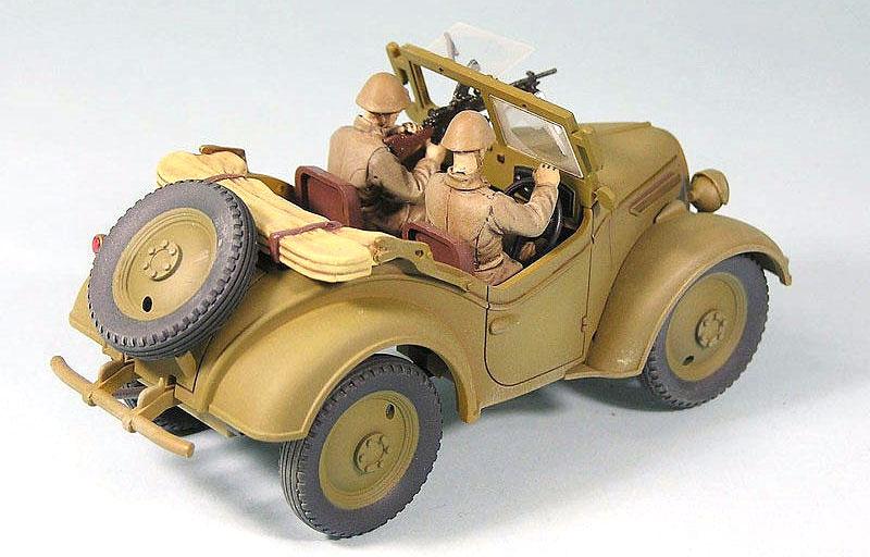 日本陸軍 九五式 小型乗用車 くろがね四起 (エッチングパーツ付)プラモデル(ピットロード1/35 グランドアーマーシリーズNo.G038E)商品画像_3