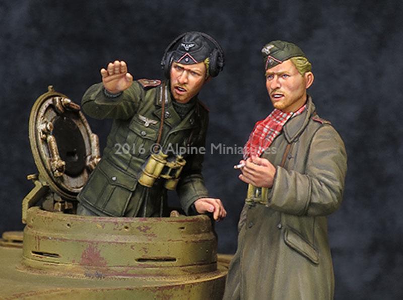 WW2 ドイツ アフリカ軍団 装甲部隊 指揮官セット (2体セット)レジン(アルパイン1/35 フィギュアNo.AM35210)商品画像_2
