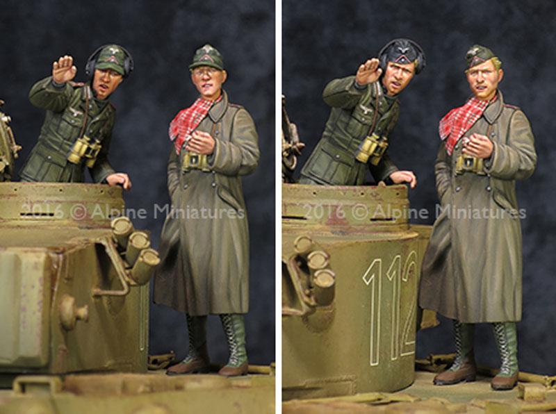 WW2 ドイツ アフリカ軍団 装甲部隊 指揮官セット (2体セット)レジン(アルパイン1/35 フィギュアNo.AM35210)商品画像_3