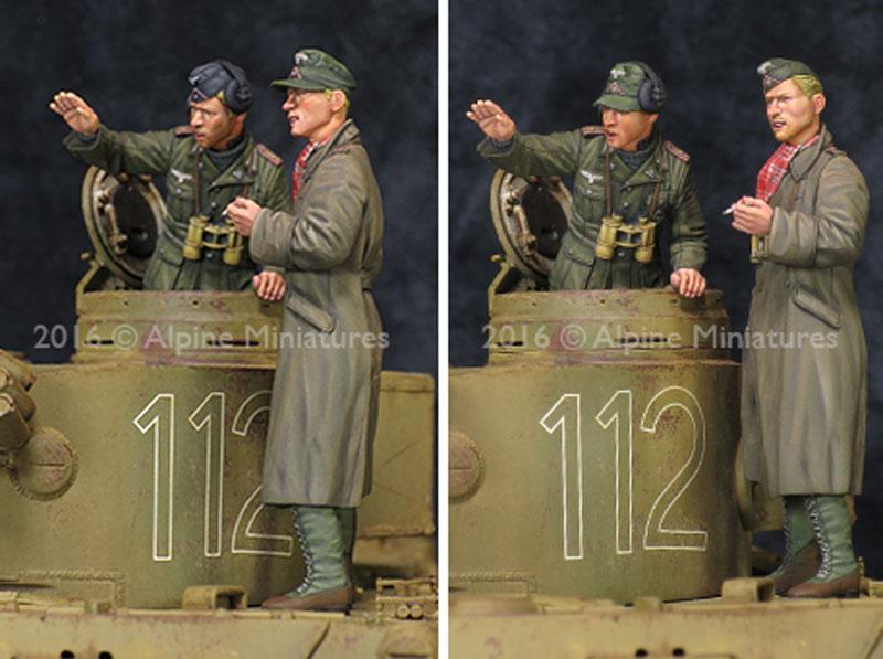 WW2 ドイツ アフリカ軍団 装甲部隊 指揮官セット (2体セット)レジン(アルパイン1/35 フィギュアNo.AM35210)商品画像_4