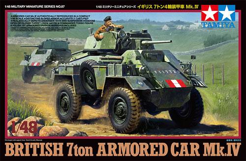 イギリス 7トン 4輪装甲車 Mk.4プラモデル(タミヤ1/48 ミリタリーミニチュアシリーズNo.087)商品画像