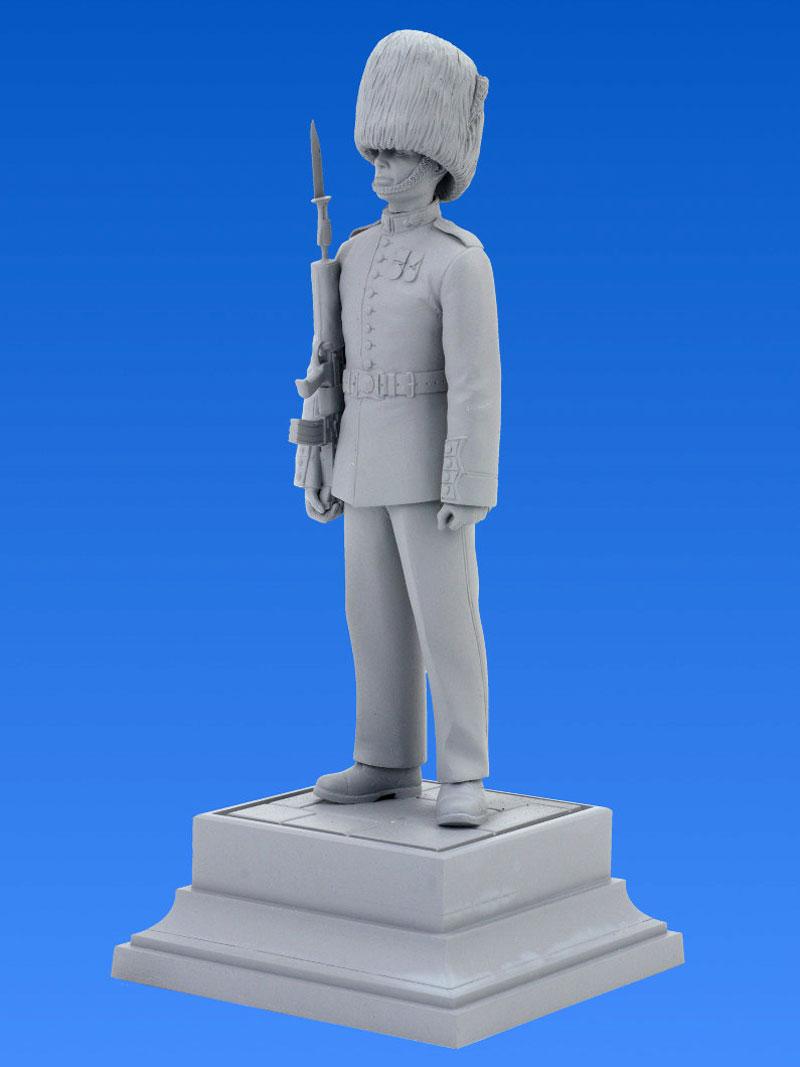 イギリス近衛兵プラモデル(ICM1/16 ワールドガードNo.16001)商品画像_3