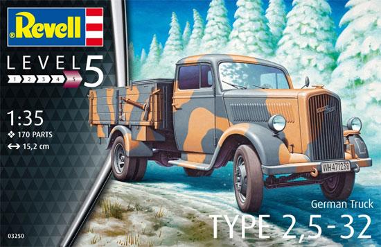 オペル TYPE 2.5-32型 トラックプラモデル(レベル1/35 ミリタリーNo.03250)商品画像