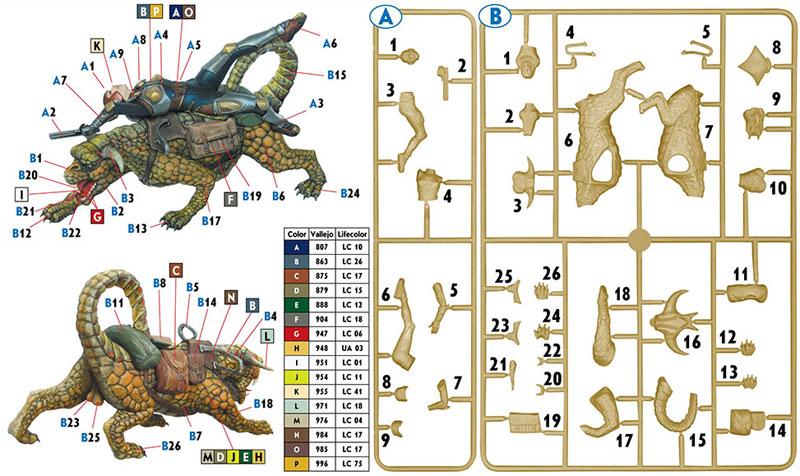 グラゲロン & ハルセーヤープラモデル(マスターボックスワールド オブ ファンタジー (World of Fantasy)No.MB24007)商品画像_1